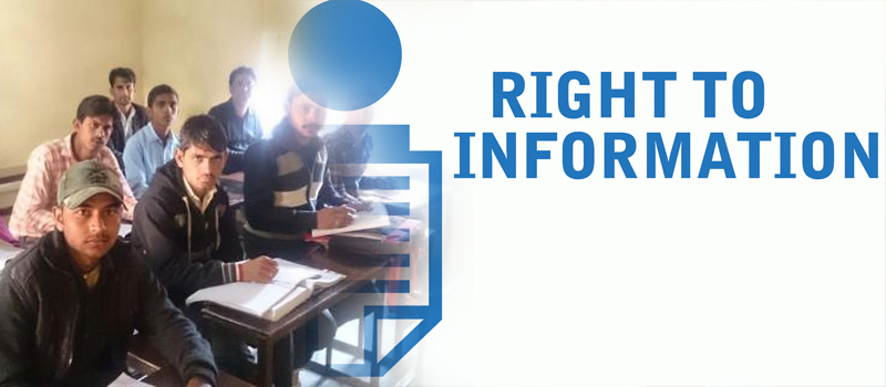 Right to Information BSITI